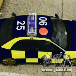 Subaru Impreza British ANPR [ELS] pour GTA 4 est un droit
