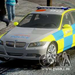 BMW 350i Indonesian Police Car [ELS] für GTA 4 Rückansicht
