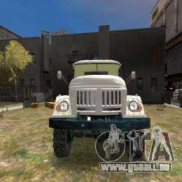 ZIL 131 pour GTA 4 vue de dessus
