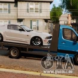 Mercedes-Benz Sprinter 3500 Car Transporter für GTA 4 linke Ansicht