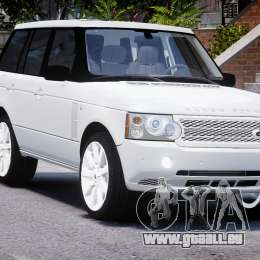 Range Rover Supercharged 2009 v2.0 für GTA 4 Rückansicht