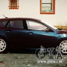 Mazda Speed 3 [Beta] pour GTA 4 est une vue de l'intérieur
