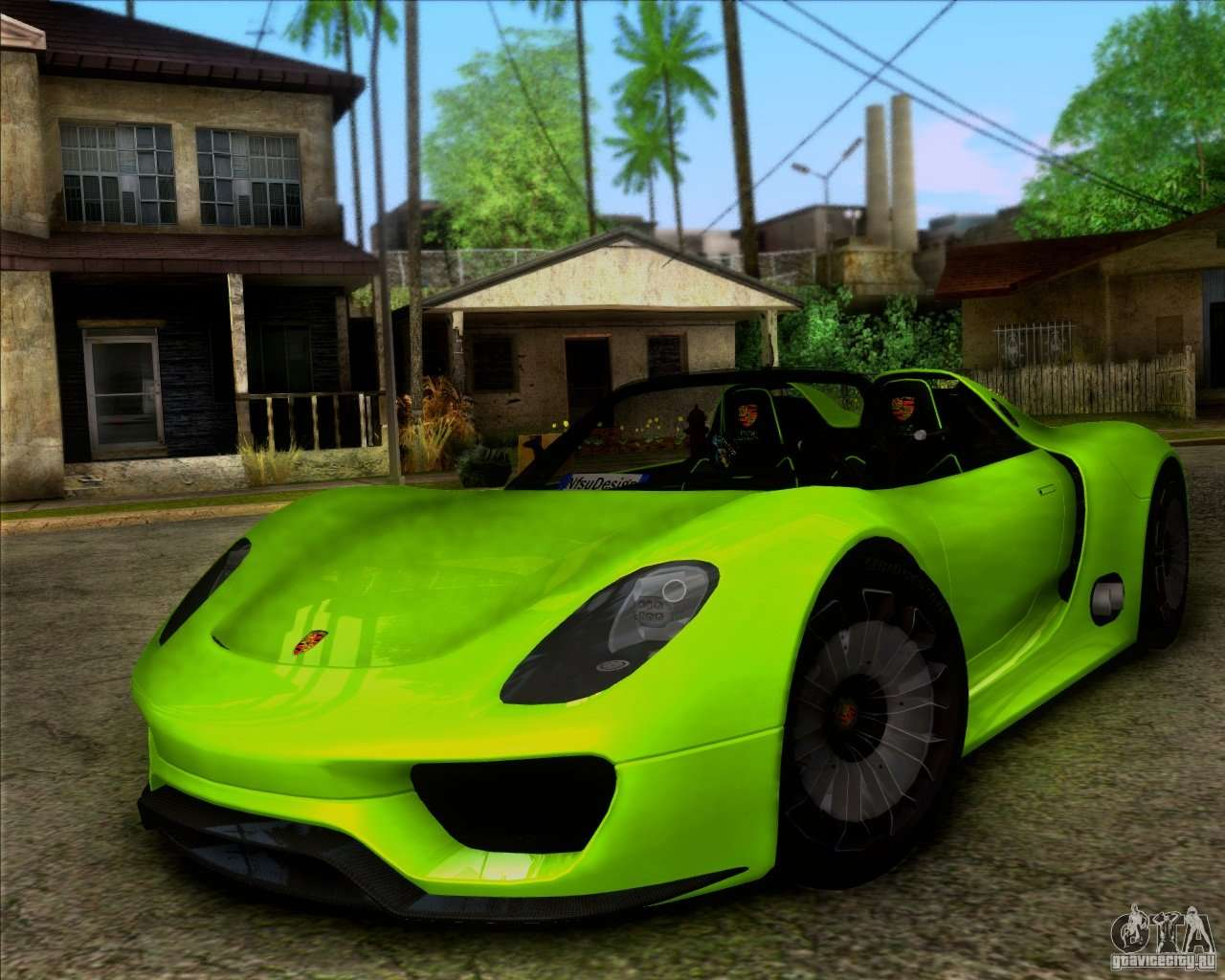 porsche 918 spyder concept study pour gta san andreas. Black Bedroom Furniture Sets. Home Design Ideas