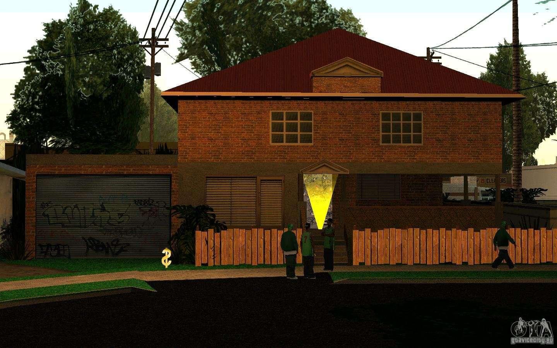 Maison neuve sur grove street cj pour gta san andreas for Maisons neuves