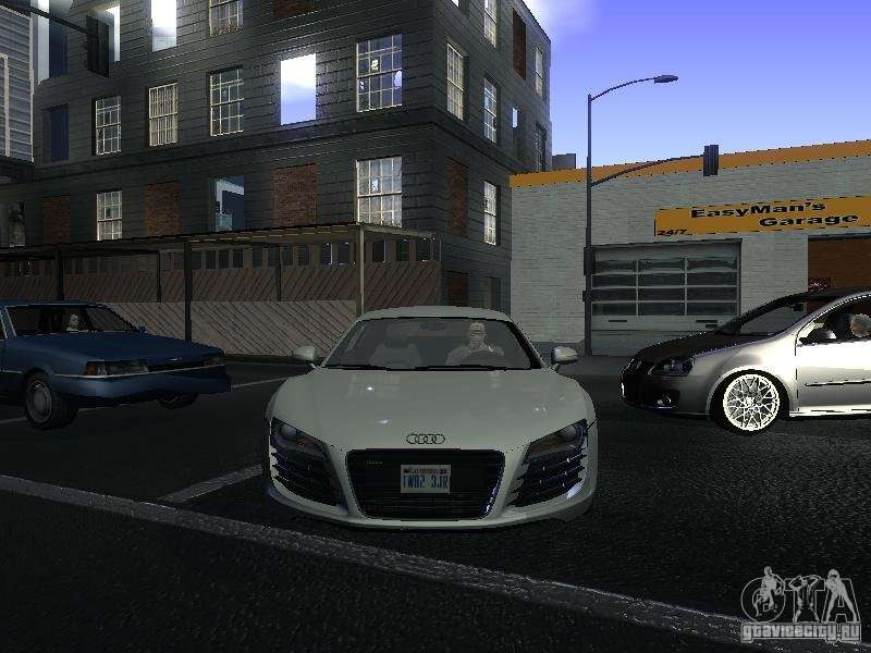 audi r8 blanche pour gta san andreas. Black Bedroom Furniture Sets. Home Design Ideas