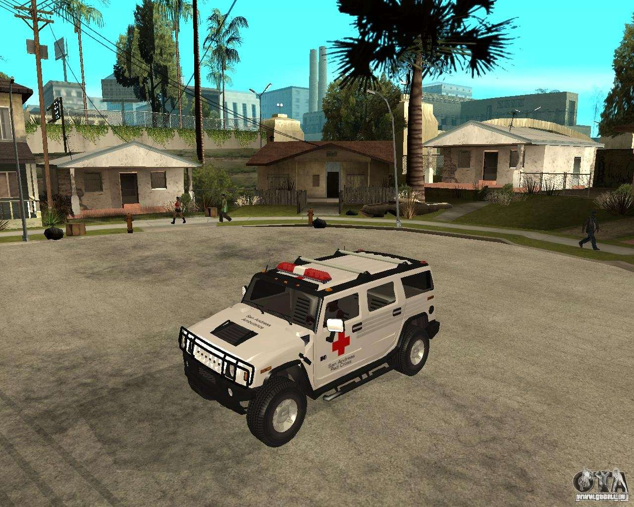 AMG H12 HUMMER - RED CROSS (ambulance) für GTA San Andreas | amg hummer
