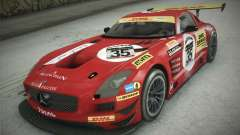 Mercedes-Benz SLS AMG GT3 Black Falcon 2011