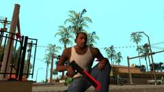 Red Chrome Weapon Pack pour GTA San Andreas