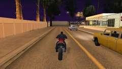 Motorrad Sprung in meinem Auto