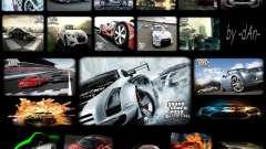 Coole Auto-neue Laden-Bildschirme