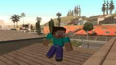 Steve aus dem Spiel Minecraft-Fell
