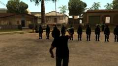 La lutte avec les katanas sur Grove Street