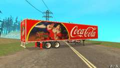 La semi-remorque à la coutume Peterbilt 379 Coca