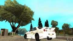 Nissan SkyLine R34 Tunable V2 pour GTA San Andreas
