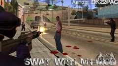 SWAT est armé avec M4
