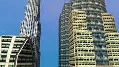 Nouvelle texture de gratte-ciels du centre