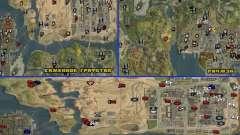 Icônes, des téléports et affaires pour GTA San Andreas