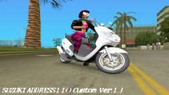 Suzuki Address 110 Custom Ver.1.3 für GTA Vice City
