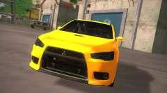 Mitsubishi Lancer Evo X Tunable für GTA San Andreas