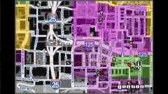 Carte avec les noms des rues