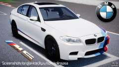 BMW M5 F10 2012 M Stripes