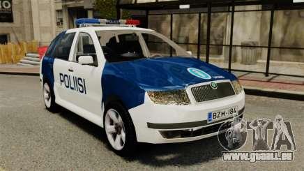 Skoda Fabia Combi Finnish Police ELS pour GTA 4