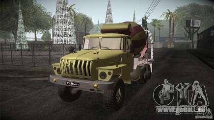 Ural 4320-Betonmischer für GTA San Andreas