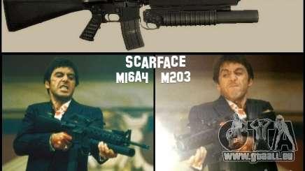 M16A4 + M203 für GTA San Andreas