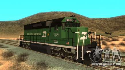 SD 40 Union Pacific Burlington Northern 3149 pour GTA San Andreas