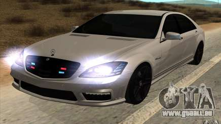 Mercedes-Benz S65 AMG avec lumières clignotantes pour GTA San Andreas