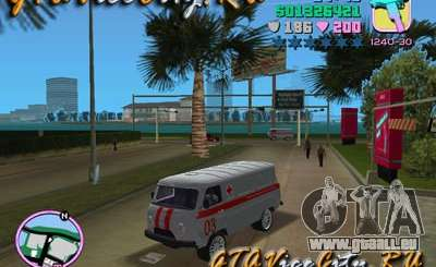 UAZ ambulance v2.0 pour GTA Vice City
