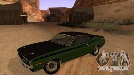 Plymouth Cuda AAR 340 1970 pour GTA San Andreas