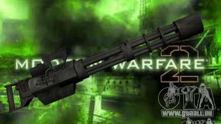 M134 Minigun de CoD : Mw2 pour GTA San Andreas