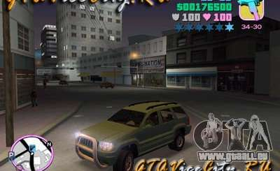 JEEP GRAND CHEROKIE pour GTA Vice City