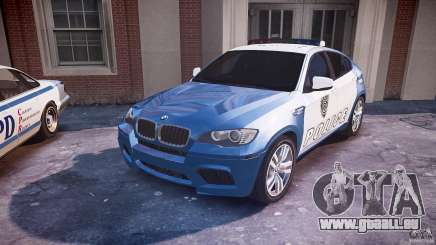 BMW X6M Police für GTA 4