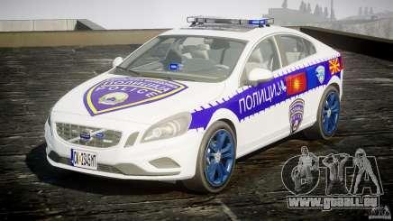 Volvo S60 Macedonian Police [ELS] für GTA 4
