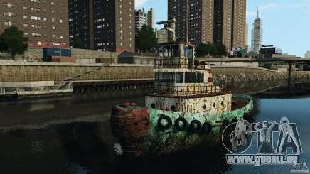 Realistic Rusty Tugboat für GTA 4