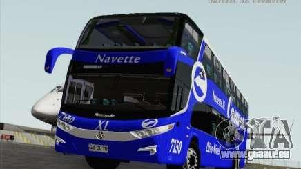 Marcopolo Paradiso 1800 DD Navette XL Coomotor pour GTA San Andreas