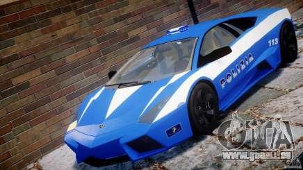 Lamborghini Reventon Polizia Italiana pour GTA 4
