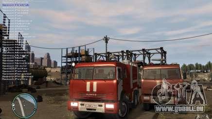 KAMAZ pompier pour GTA 4