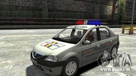Dacia Logan Prestige Politie pour GTA 4