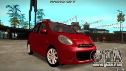 Nissan Micra 2011 für GTA San Andreas