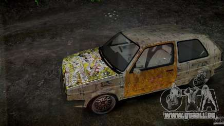 Volkswagen Golf Mk2 GTI Rat-Look für GTA 4