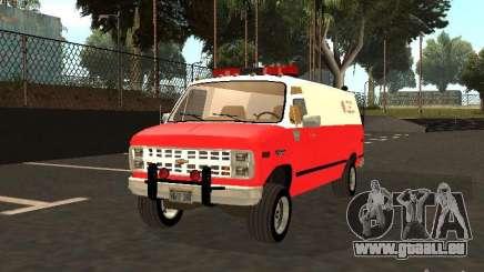 Chevrolet Van G20 LAFD pour GTA San Andreas