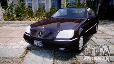 Mercedes-Benz 600SEC C140 1992 v1.0 pour GTA 4