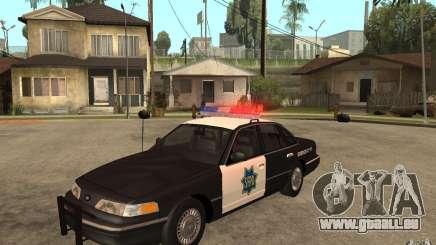 Ford Crown Victoria SFPD 1992 pour GTA San Andreas