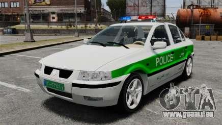 Iran Khodro Samand LX Police für GTA 4