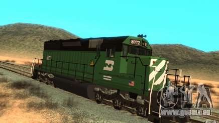 Locomotive SD 40 Burlington Northern 8072 pour GTA San Andreas