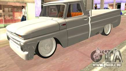 Chevrolet C10 1966 Low Gray für GTA San Andreas