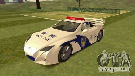 Lexus LF-A China Police pour GTA San Andreas